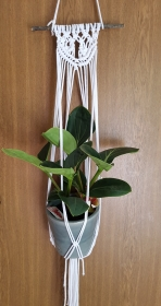 Blumenampel Makramee Macrame Planthanger Pflanzenhänger Boho Vintage - Handarbeit kaufen