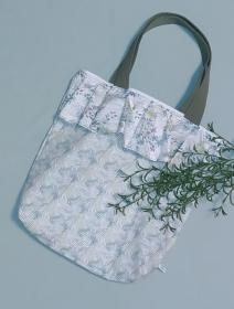 Stoffbeutel, Beuteltasche mit Rüschen Muster  - Handarbeit kaufen