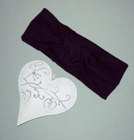 Stirnband Haarband Baby stylisches Knotenstirnband Kopfumfang 38-40 cm - Handarbeit kaufen