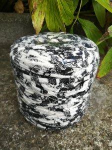 Neu und direkt vom Hersteller, ausgefallenes Fransen Textilgarn weiss/blau