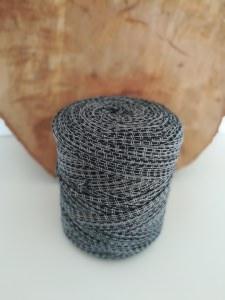 Neu und direkt vom Hersteller, Textilgarn dunkelgrau gemustert!