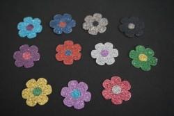 BlumeAufkleber Hotfix Buegelbild bunt Textilaufkleber 11 St. glitter     Blume-Aufkleber-Hotfix-Buegelbild-bunt-Textilaufkle