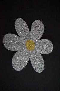 Blumen Aufkleber Hotfix Bügelbild Textilaufkleber Glitter Glitzer Folie
