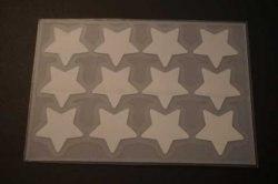 Sterne Bügelbild 12 St. reflektierend Hotfix Bügelbild Textilaufkleber silber 12 Stück Applikation
