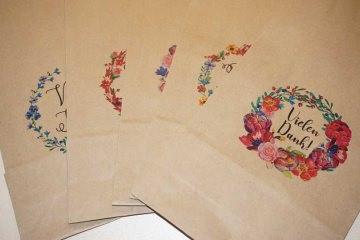 Kraftpapier Bodenbeutel 15 cm x 29 cm, bedrücktv verschiedene Motive