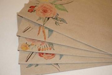 Kraftpapier Bodenbeutel 15 cm x 29 cm, bedrückt verschiedene Motive