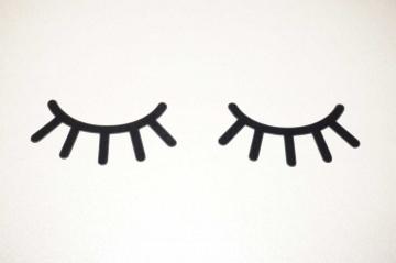Wimpern  Bügelbild 4 St. flex Premium folie zum Aufbügeln Sleepy eyes