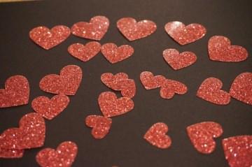 Herz Bügelbild 30 St. pearl glitter Aufkleber Hotfix Bügelbild Textilaufkleber Glitterfolie  pink 30 Stück Applikation