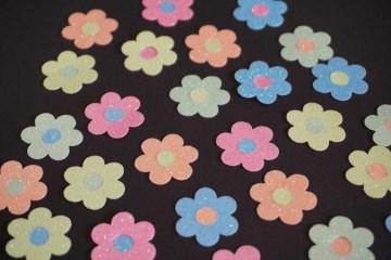 Blume Aufkleber Hotfix Bügelbild Textilaufkleber Glitterfolie Glitzerfolie Neon iron on transfer patch vinyl sticker