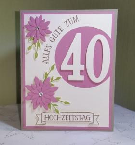 Handgefertigte Glückwunschkarte zur Hochzeit/zum Hochzeitstag/Geburtstag