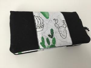 Portemonnaie / Geldbeutel Kaktus aus Stoff genäht  in frischen witzigen Design. Ist der was für dich? - Handarbeit kaufen