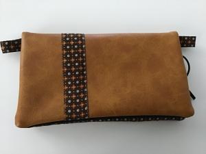 Minihandtasche aus Kunstleder mit Zierband für Smartphone, Geld, Karten und Schlüssel in XXL für größere Handys kaufen  - Handarbeit kaufen