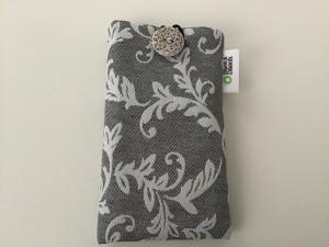 Elegante  Handytasche mit Ornamenten ideal für Smartphone bis H15 cm B 7,5 cm - Handarbeit kaufen