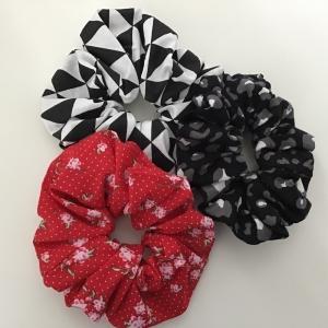 Haargummies - Scrunchies aus wunderschönen Stoffen genäht  /Set 3 Stück - Handarbeit kaufen
