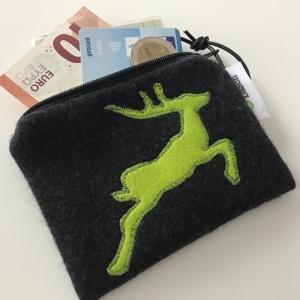 Geldbeutel Portemonnaie mit süßer Osterhasen Applikation    - Handarbeit kaufen
