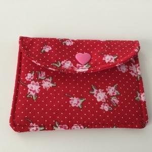 Minigeldbeutel, Visitenkartentasche, Gutscheinkartentäschen im herzigen Rosendesign - Handarbeit kaufen