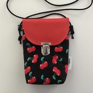 Minitasche Swing my Mobile, minimalistisch für das Nötigste aus wunderschönem Kirschstoff genäht