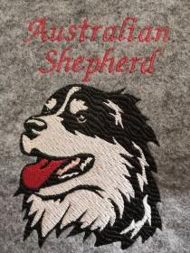 S-IPH0010 Impfpasshülle/ Einsteckhülle Australian Shepherd Filz