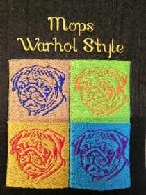 S-IPH0014 Impfpasshülle/ Einsteckhülle Mops Warhole Style Filz