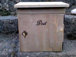 Holzbriefkasten, Holzpostkasten Love Letter