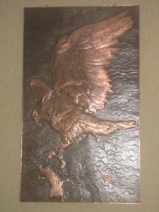 Kupferbild Adler höhe 90 cm * breite 54cm