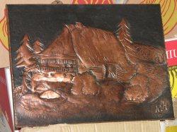 Kupferbild Schwarzwaldhaus höhe 30 cm * breite 40 cm