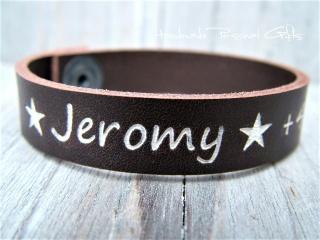 Namensarmband aus Leder mit Telefon-Nummer, individualisierbar und in unterschiedliche Farben - Handarbeit kaufen