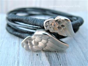 Armband für Mutter und Kind, Flügel, 2 stück,  - Handarbeit kaufen