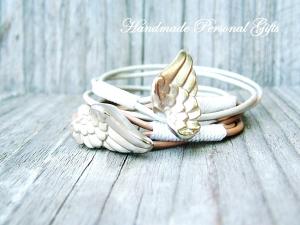 Armband für Mutter und Kind, Flügel, 2 stück, Muttertag, Taufe, einzigartiges Geschenk, Schützengel, benützerdefiniert - Handarbeit kaufen