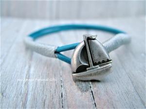 Für kleine Männer, Armband Segelboot, Geburtstagsgeschenk für Jungen, Freundschaftsarmband, Vater und Sohn Armband, armband für Jungen, Kommunion  - Handarbeit kaufen