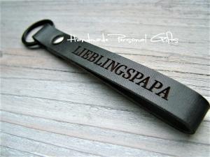 Schlüsselanhänger aus Leder, Vollständig anpassbar, Lieblingspapa, Namen oder kleinen Text, Herz, Vatertag, benützerdefiniert - Handarbeit kaufen