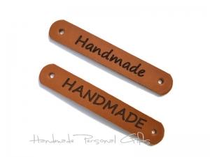 Leder etiketten, Handmade, individualisierbar, benützerdefinierte etiketten, naturleder, Label, palundumaterial - Handarbeit kaufen