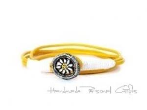 Lederarmband mit einem schönen Edelweiß als Hingucker, Edelweis, Blume, Blumenarmband, als Halskette zu verwenden, Lederarmband,benützerdefinierte Halskette - Handarbeit kaufen