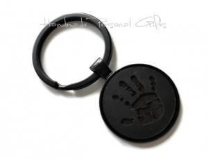 Ein schöner Handabdruck, Schlüsselanhänger, Fußabdruck, Symbol, Erinnerungskeychain, Hundetatze, Weihnachten, Weihnachtsgeschenk - Handarbeit kaufen