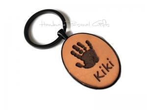 Ein schöner Handabdruck, Schlüsselanhänger, Fußabdruck, Symbol, Erinnerungskeychain, Hundetatze, Weihnachten, Weihnachtsgeschenk, Kinderzeichnung - Handarbeit kaufen