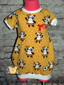Ballonkleid kurz Panda