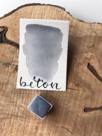 Beton Watercolor, Aquarell, halber Napf   - Handarbeit kaufen