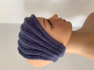 Handgestricktes violettes Stirnband - Handarbeit kaufen