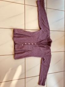 Gestrickte Trachtenjacke in altrosa Größe 42 mit Alpaka - Handarbeit kaufen