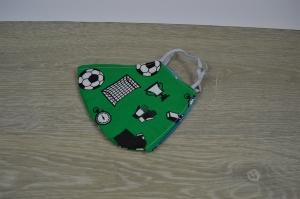 Mundmaske/Atemschutzmakse Behelfsmaske für Kinder Fussball