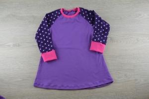 Kleid Lila Polka dots Größe 86 / Rocker girls
