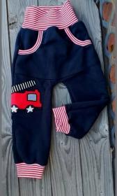 Babyhose / Kinder Pumphose - Feuerwehr- in der Gr.50/56 bis 122  aus Sweat    - Handarbeit kaufen