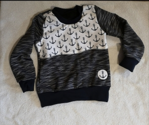 Sweatshirt / Pulli  - Anker1 - in den Gr.50/56 bis 122  aus Sweat     - Handarbeit kaufen