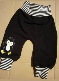 Babyhose /Pumphose - Pinguin 1- in den Gr.50/56 bis 122  aus Sweat    - Handarbeit kaufen