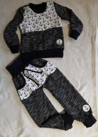 Sweatshirt und Pumphose -Anker 1  - in den Gr.74/80 bis 122/128  aus Sweat     - Handarbeit kaufen