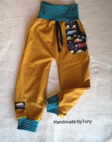 Babyhose Pumphose  Stop and Go 2 - in den Gr.50/56 bis 98/104  aus Sweat    - Handarbeit kaufen