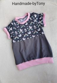 Ballonshirt /T-Shirt - Einhörner - in den Gr.74/80 bis 122  aus Jersey  - Handarbeit kaufen