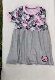 Kleid / Longshirt /T-Shirt - Schmetterlinge - in den Gr.74/80 bis 122  aus Jersey