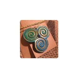 Handmade Schmuckanhänger - Triskele - Symbol für den Lebenskreislauf