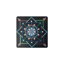 Handgefertigtes Dottpic / Punktbild auf Leinwand 30 x 30 cm - Geometrische Formen